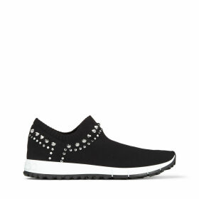VERONA Black Knit Trainers with Stud Detailing