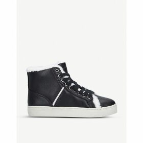 Mellie faux-leather trainers