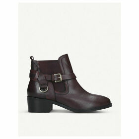 Saddles leather Chelsea boots