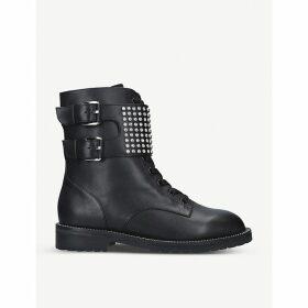Seth stud-embellished leather ankle boots