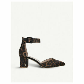 Burlington leopard-print leather courts