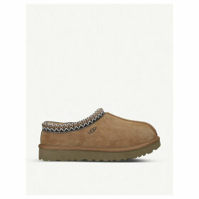 Tasman shearling-lined suede slippers