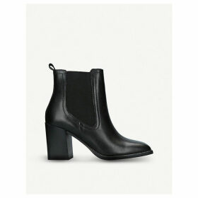 Grerasa leather heeled ankle boots