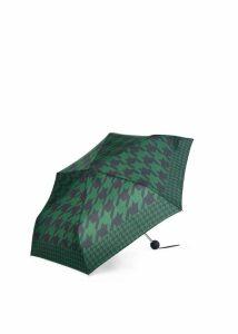Houndstooth Umbrella Navy Green
