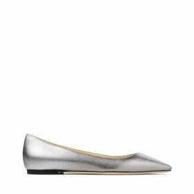ROMY FLAT Chaussures plates à bout pointu en cuir nappa à dégradé métallisé acier et argenté