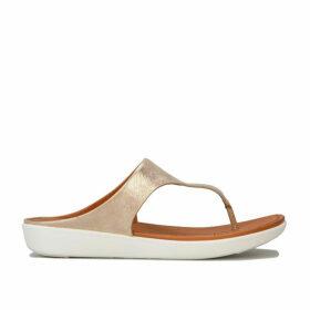Womens Banda II Leather Toe Thong Sandals