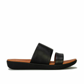 Womens Delta Leather Slide Sandals