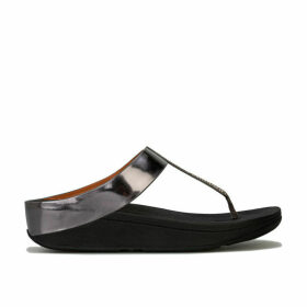 Womens Fino Crystal Toe Thong Sandals