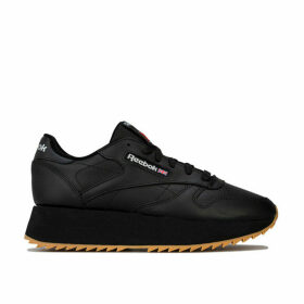 Womens Classic Leather Double Trainers