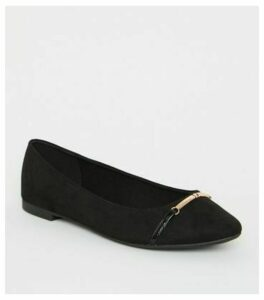 Wide Fit Black Suedette Loafers New Look