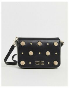 Versace Jeans Couture studded fold over bag-Green