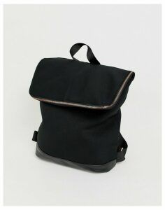 ASOS DESIGN foldover backpack-Black