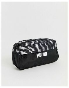 Puma zebra print bumbag-Black