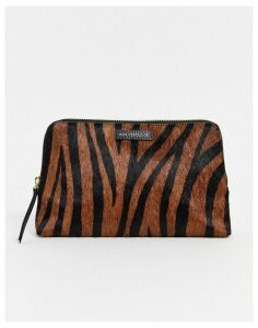 Paul Costelloe real leather snake makeup bag-Multi