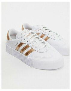adidas Originals Sambrarose in white and rose gold