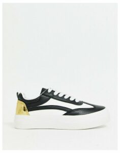 London Rebel lace up trainers-Multi