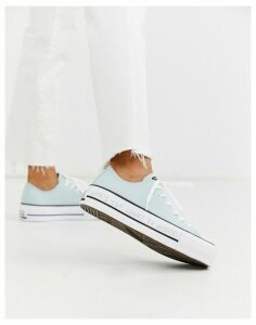 Converse Blue Chuck Taylor platform All Star Renew recycled trainers
