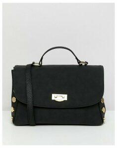ASOS DESIGN oversize stud slouchy bag-Black