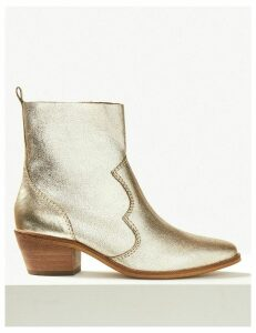 M&S Collection Leather Western Boots