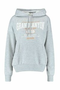 Womens Grand Canyon Basic Hoodie - Grey - 12, Grey
