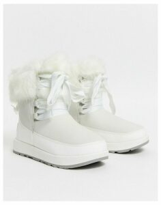 UGG Gracie waterproof fluffy ankle boots in white