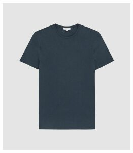 Reiss Melrose - Pigment Dyed T-shirt in Indigo, Mens, Size XXL