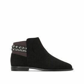 Ankle Boots with Contrasting Tie Detail