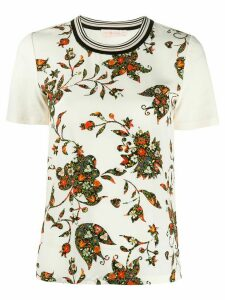 Tory Burch floral print T-shirt - NEUTRALS