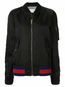 Gucci Pre-Owned embroidered parrot bomber jacket - Black