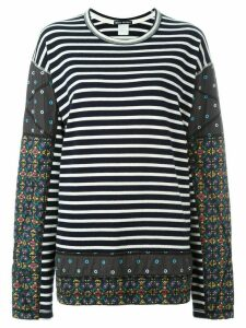 Issey Miyake Pre-Owned striped patchwork jumper - Blue