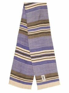 Yves Saint Laurent Pre-Owned 1990s striped scarf - Neutrals