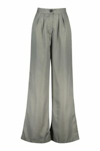 Womens Relaxed Masculine Fit Trousers - grey - 16, Grey