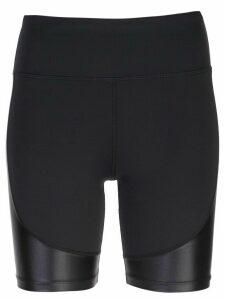 ALALA waxed panel shorts - Black