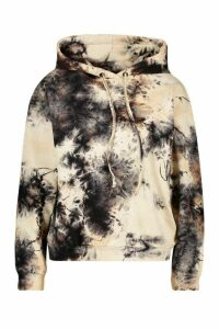 Womens Acid Wash Hoodie - Grey - 12, Grey