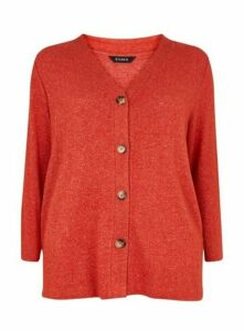 Rust Soft Touch Cardigan, Rust