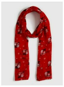 Red Christmas Scarf, Red
