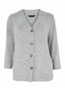 Grey Soft Touch Cardigan, Grey