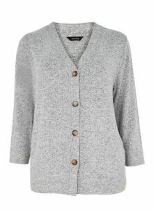 Grey Soft Touch Cardigan, Grey