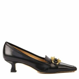 Bottega Veneta Black Leather Madame Pumps