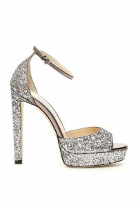 Jimmy Choo Glitter Pattie 130 Sandals