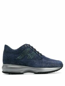 Hogan Interactive glitter sneakers - Blue