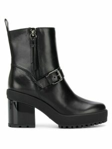 Hogan buckled ankle boots - Black