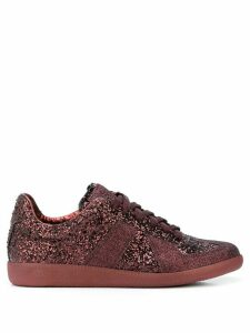 Maison Margiela Replica glitter low-top sneakers - Red
