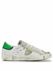 Philippe Model Paris distressed low-top sneakers - White