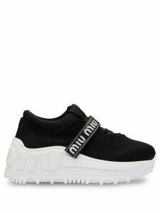 Miu Miu logo low-top sneakers - Black