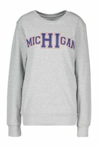 Womens Michigan State Slogan Sweatshirt - grey - M, Grey