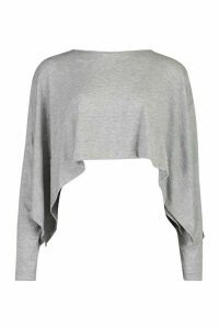 Womens Open Side Throw On Lightweight Jumper - grey - M/L, Grey