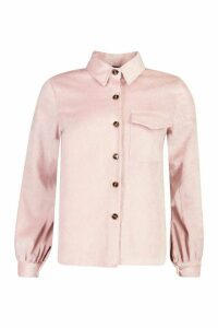 Womens Cord Shirt - pink - 12, Pink