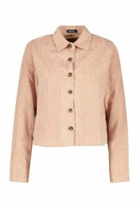 Womens Jumbo Cord Shirt - pink - 16, Pink