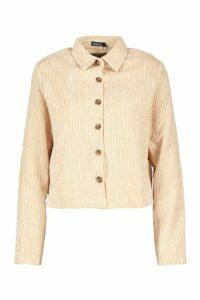 Womens Jumbo Cord Shirt - beige - 14, Beige